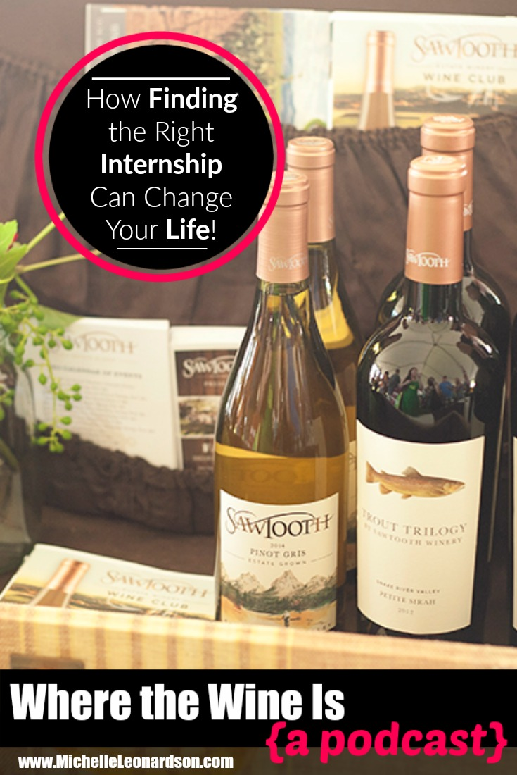 In this episode Michelle and the #wineboss of the Idaho Wine Commission talk all things Idaho wine. (Psst! Learn how taking an internship changed her life!)