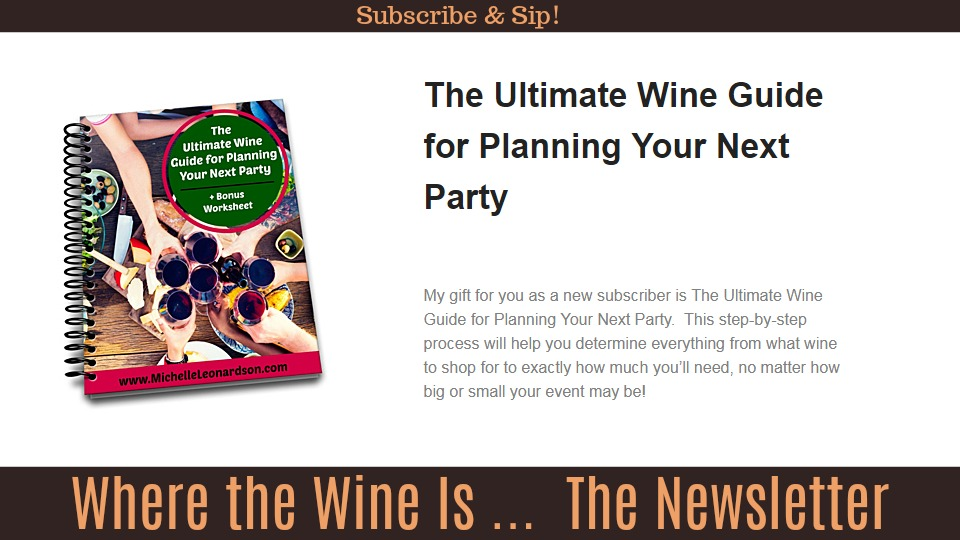 Subscribe to the Where the Wine Is newsletter!